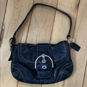 Coach Black Leather Hobo Bag